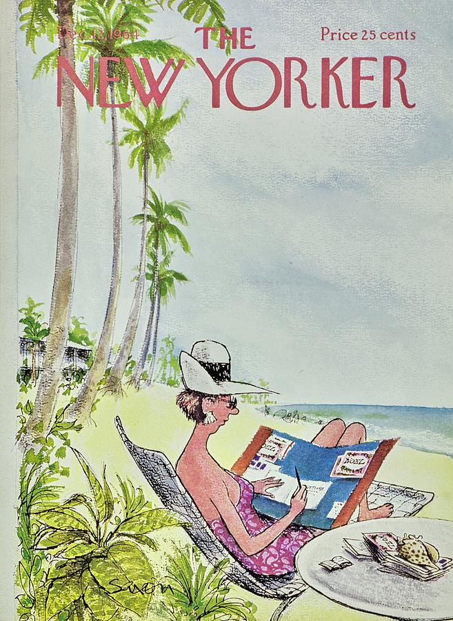 New Yorker December 12th 1964 Painting by Charles D Saxon