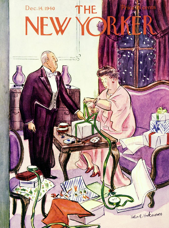 New Yorker December 14 1940 Painting by Helene E Hokinson