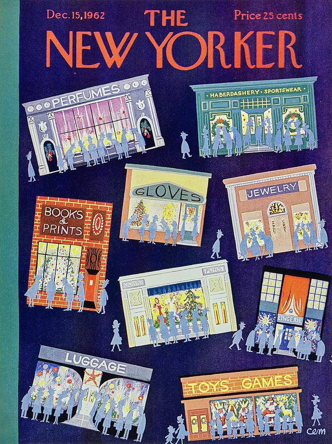New Yorker December 15th 1962 Painting by Charles Martin