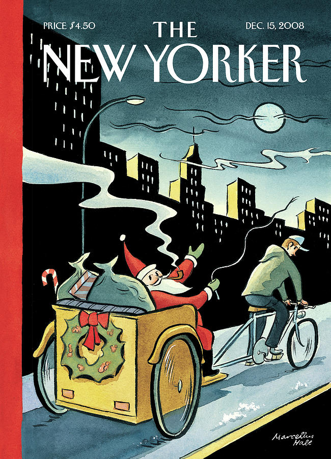 New Yorker December 15, 2008 Painting by Marcellus Hall