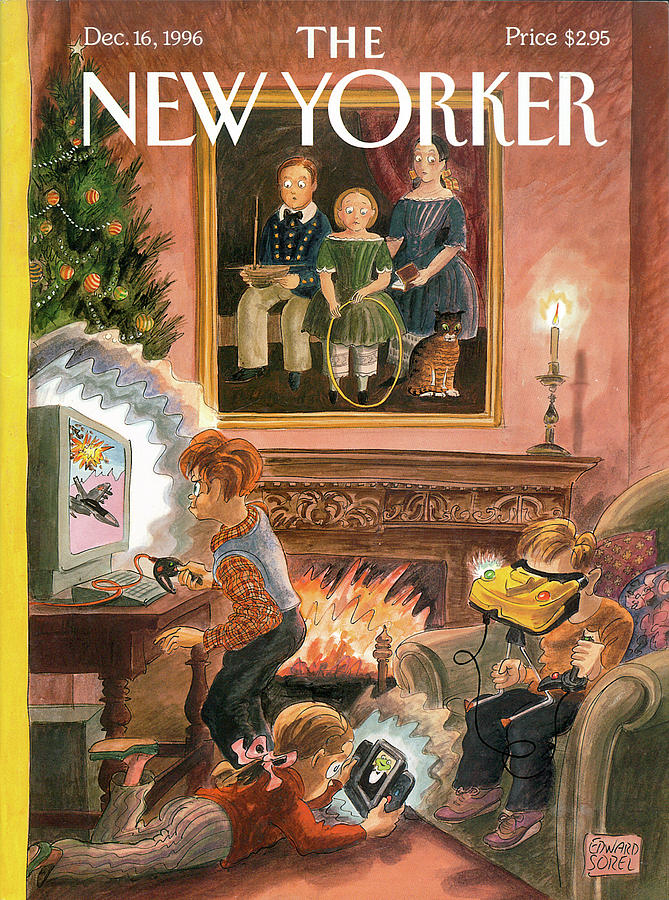 New Yorker December 16th, 1996 Painting by Edward Sorel