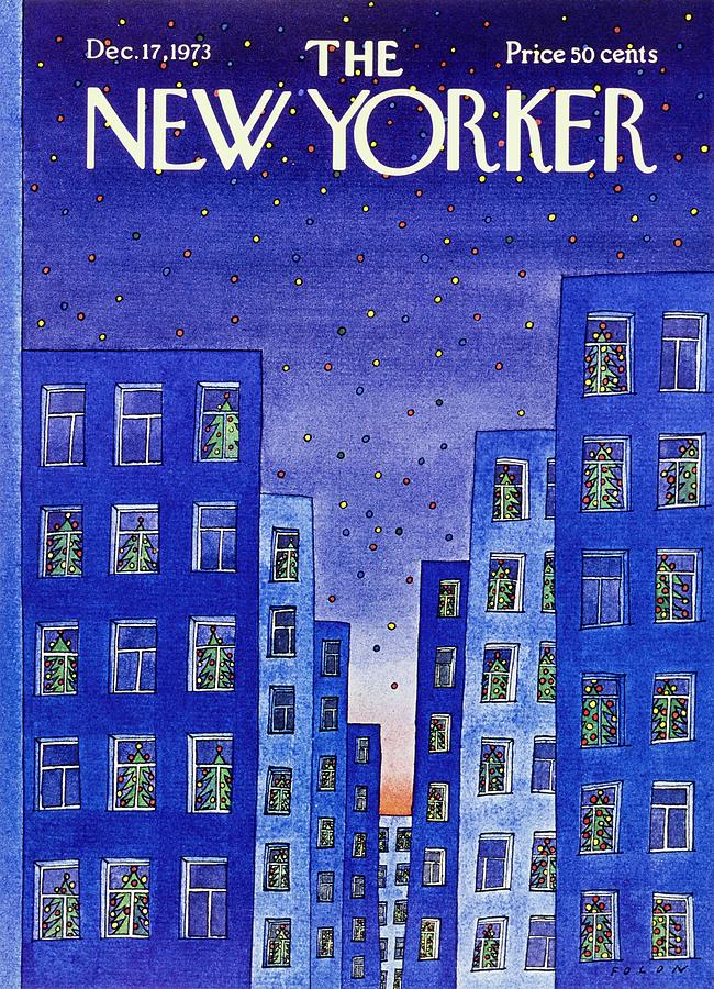 New Yorker December 17th 1973 Painting by Jean-Michel Folon