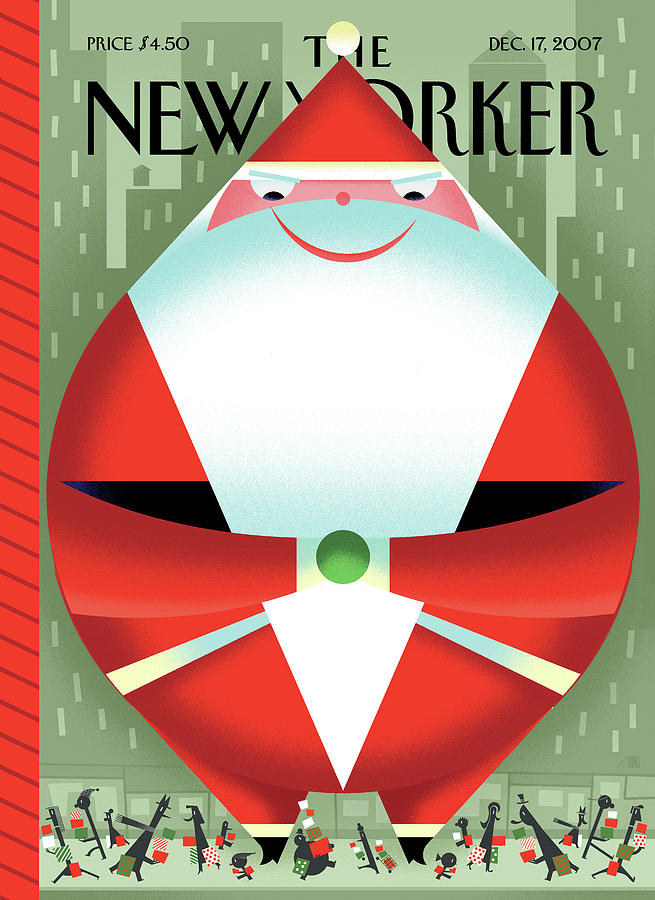 New Yorker December 17th, 2007 Painting by Bob Staake