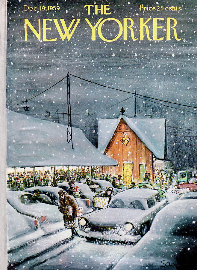 New Yorker December 19th, 1959 Painting by Charles Saxon