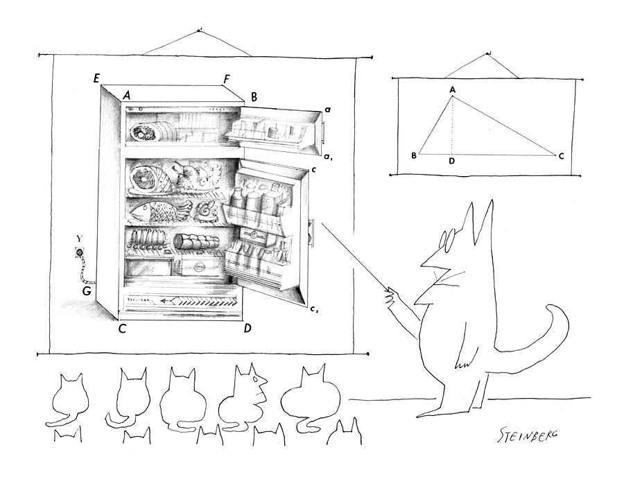 New Yorker December 19th, 1964 Drawing by Saul Steinberg