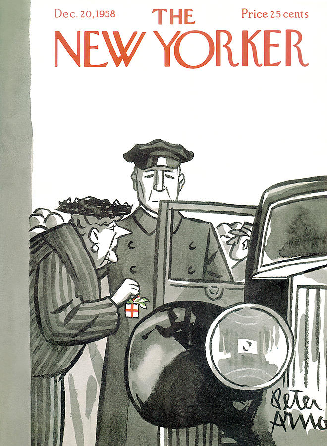Automobile Painting - New Yorker December 20th, 1958 by Peter Arno