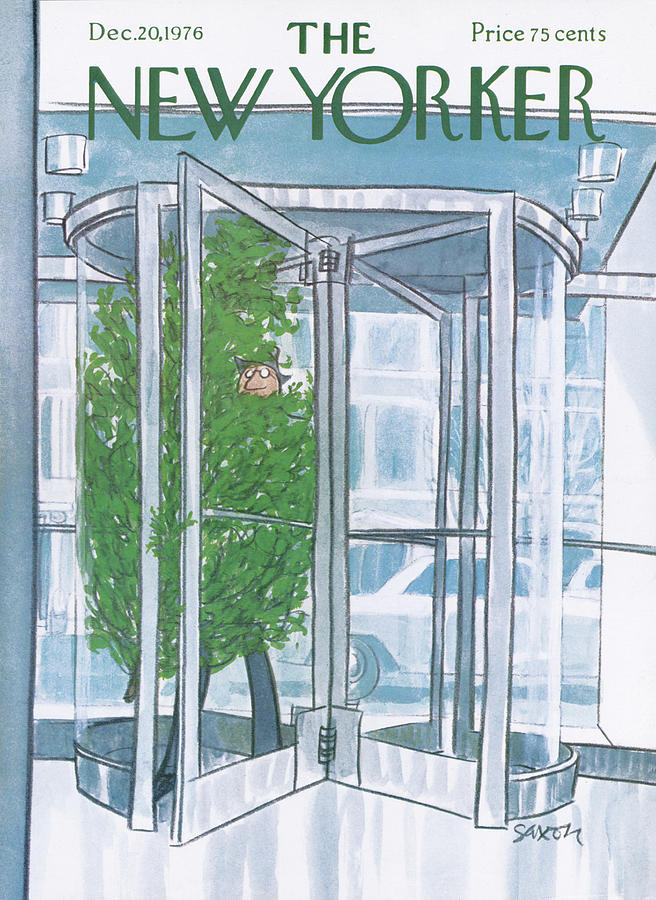 New Yorker December 20th, 1976 Painting by Charles Saxon