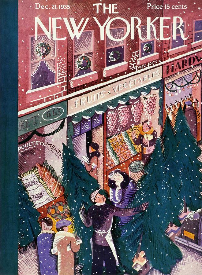 New Yorker December 21 1935 Painting by Ilonka Karasz