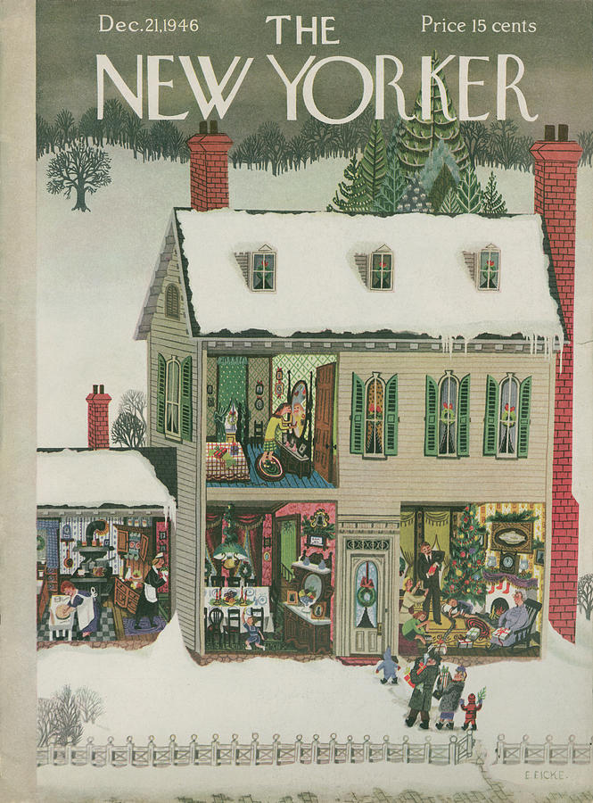 New Yorker December 21, 1946 Painting by Edna Eicke