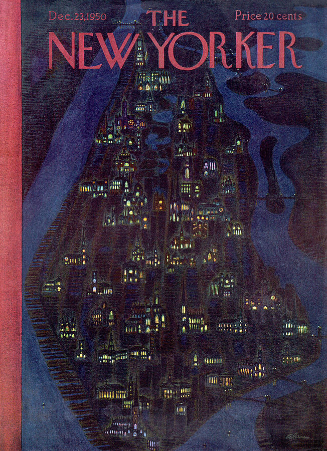 New Yorker December 23, 1950 Painting by Alain