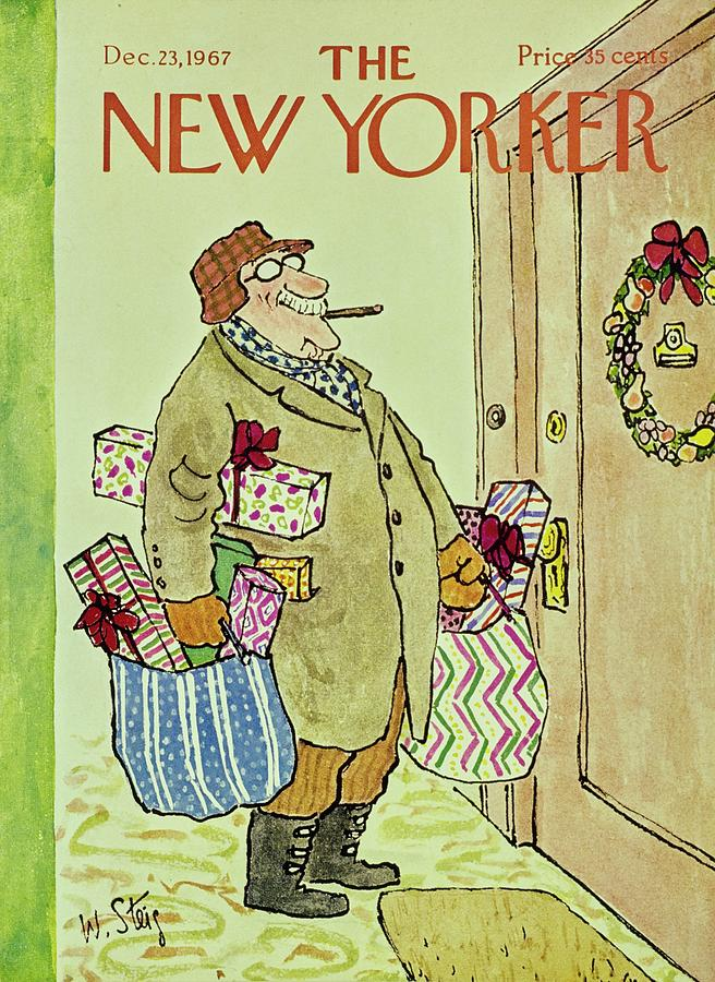 New Yorker December 23rd 1967 Painting by William Steig