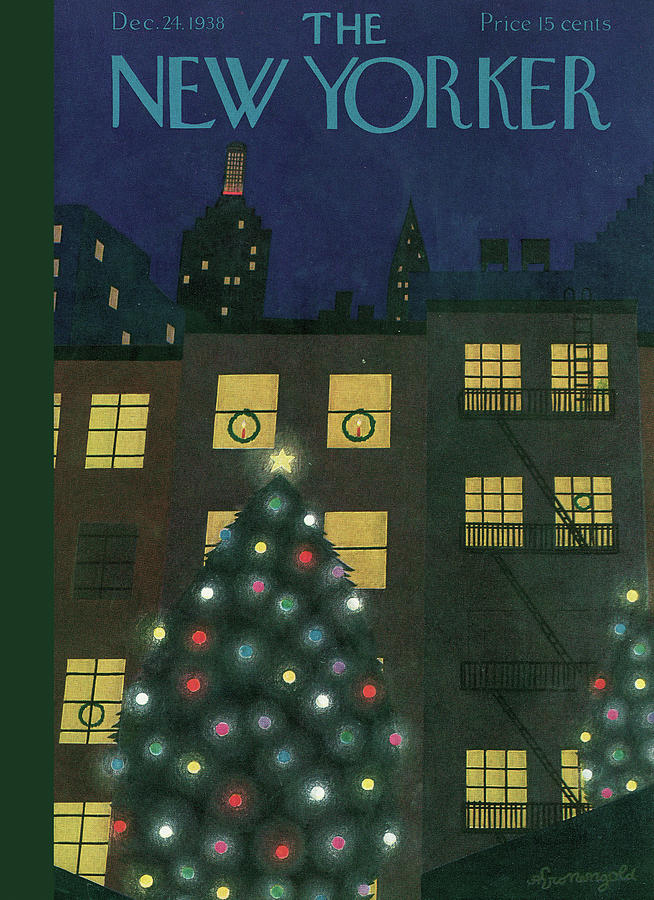 New Yorker December 24, 1938 Painting by Adolph K Kronengold