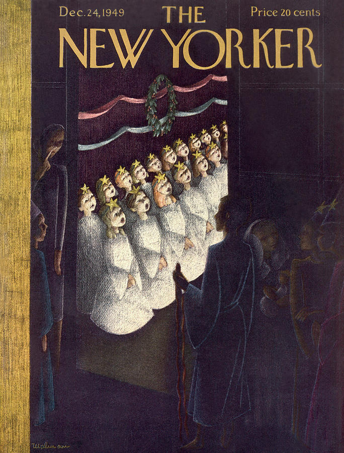 New Yorker December 24th, 1949 Painting by Christina Malman