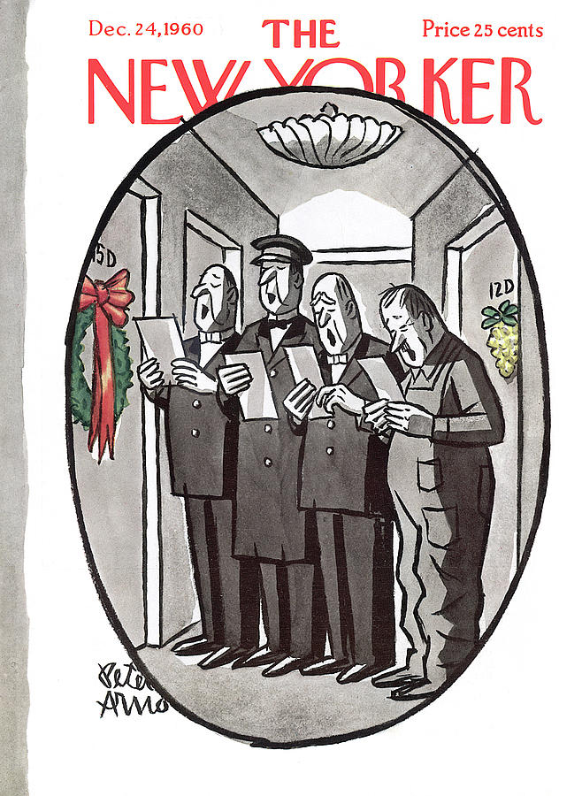 New Yorker December 24th, 1960 Painting by Peter Arno