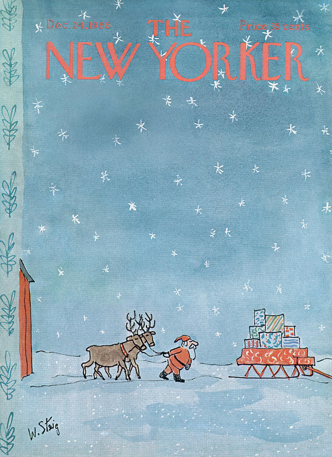 New Yorker December 24th, 1966 Painting by William Steig