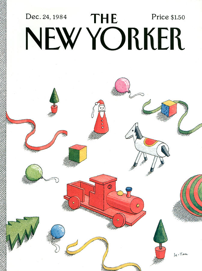 New Yorker December 24th, 1984 Painting by Pierre Le-Tan