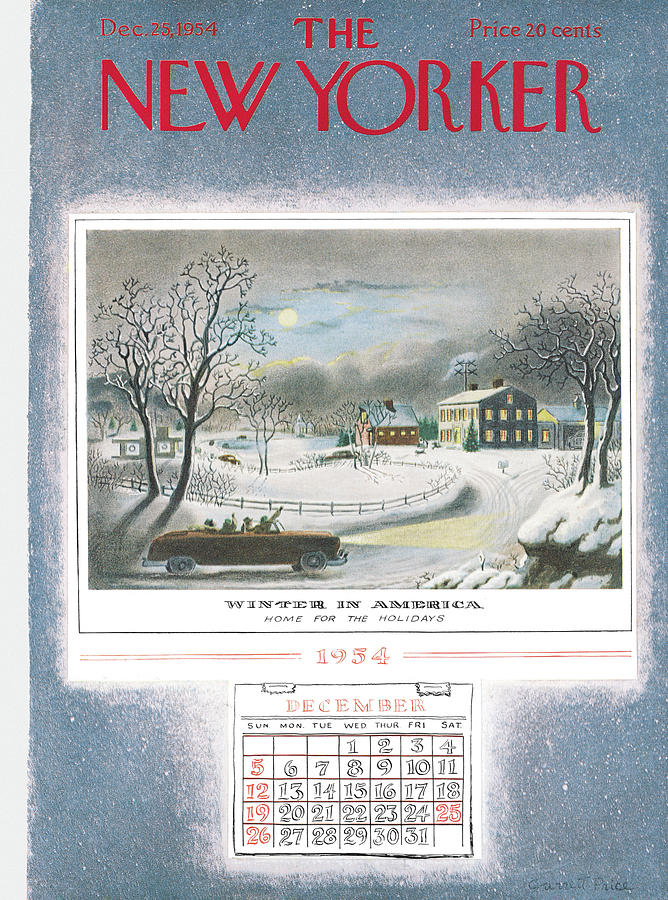 New Yorker December 25th, 1954 Painting by Garrett Price