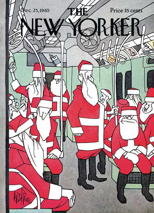 New Yorker December 25th, 1965 Painting by George Price