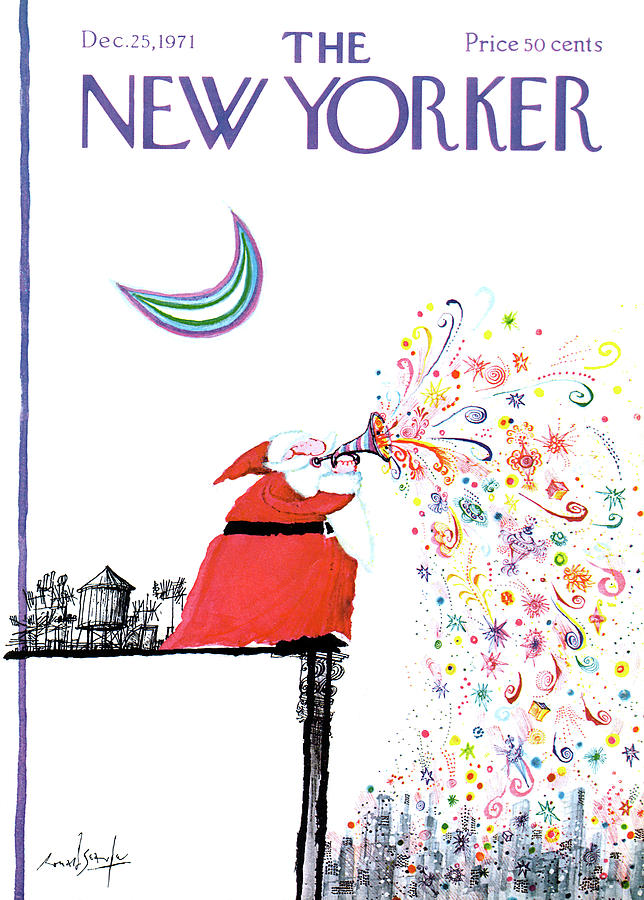 New Yorker December 25th, 1971 Painting by Ronald Searle