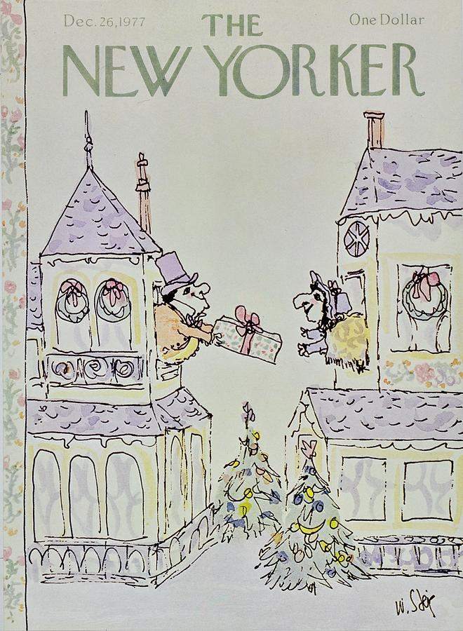 New Yorker December 26th 1977 Painting by William Steig