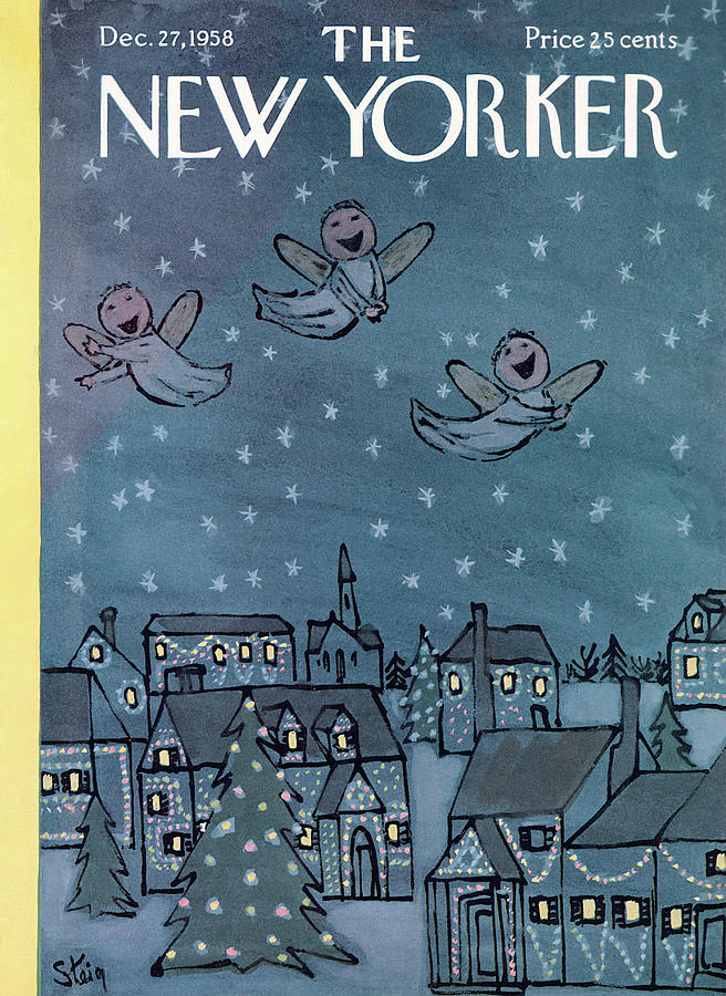 New Yorker December 27th, 1958 Painting by William Steig