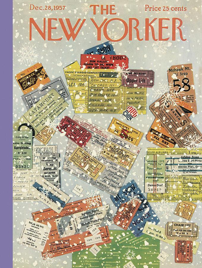 New Yorker December 28th, 1957 Painting by Ilonka Karasz