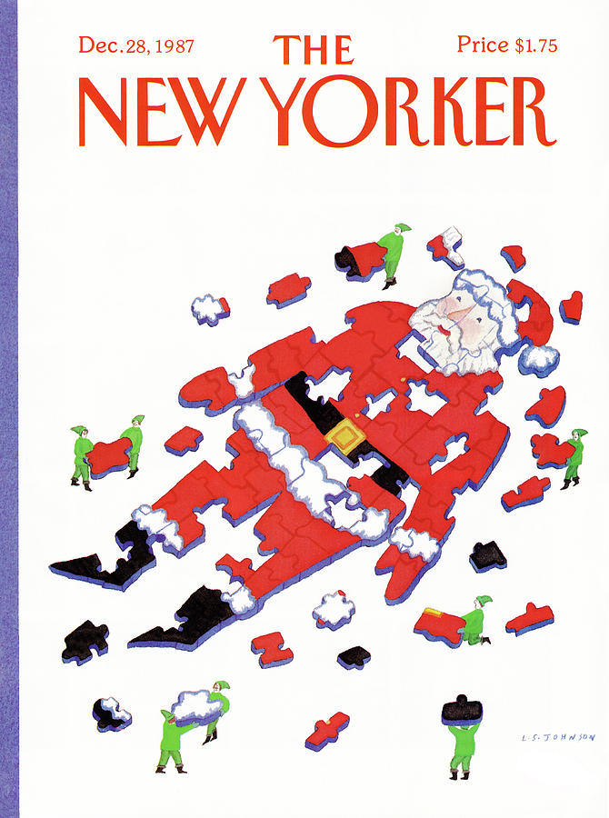 New Yorker December 28th, 1987 Painting by Lonni Sue Johnson