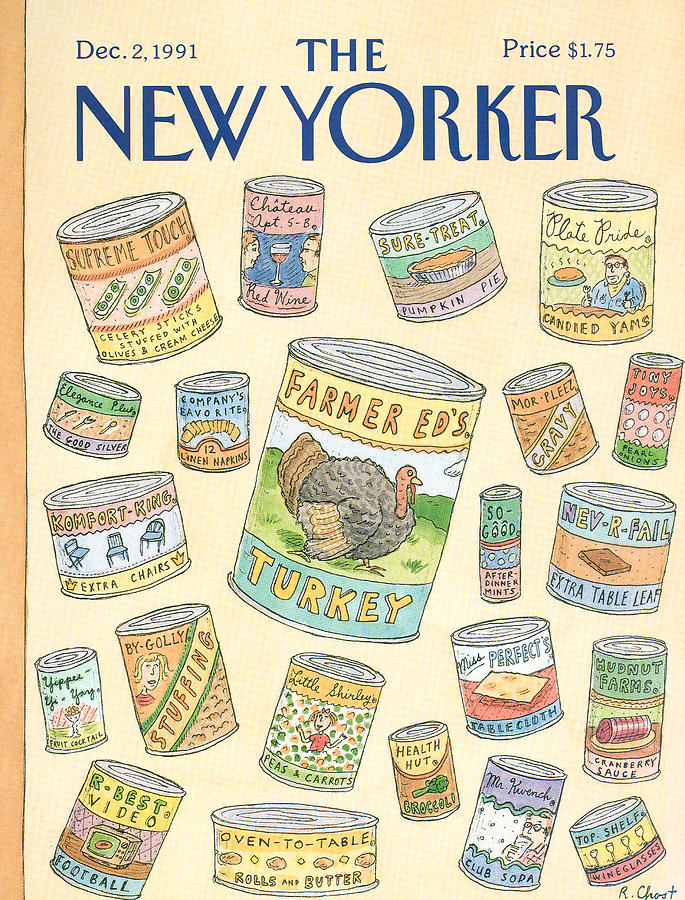 New Yorker December 2nd, 1991 Painting by Roz Chast