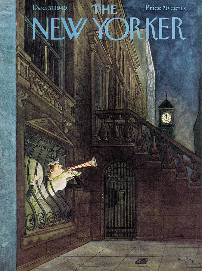 New Yorker December 31st, 1949 Painting by Mary Petty