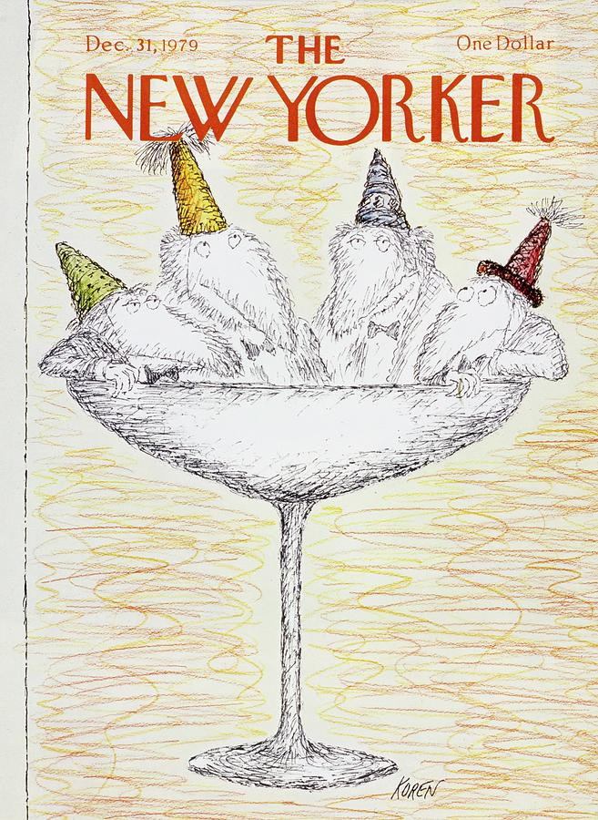 Illustration Painting - New Yorker December 31st 1979 by Edward Koren