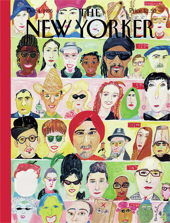 New Yorker December 4th, 1995 Painting by Maira Kalman