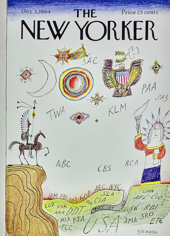 New Yorker December 5th 1964 Painting by Saul Steinberg