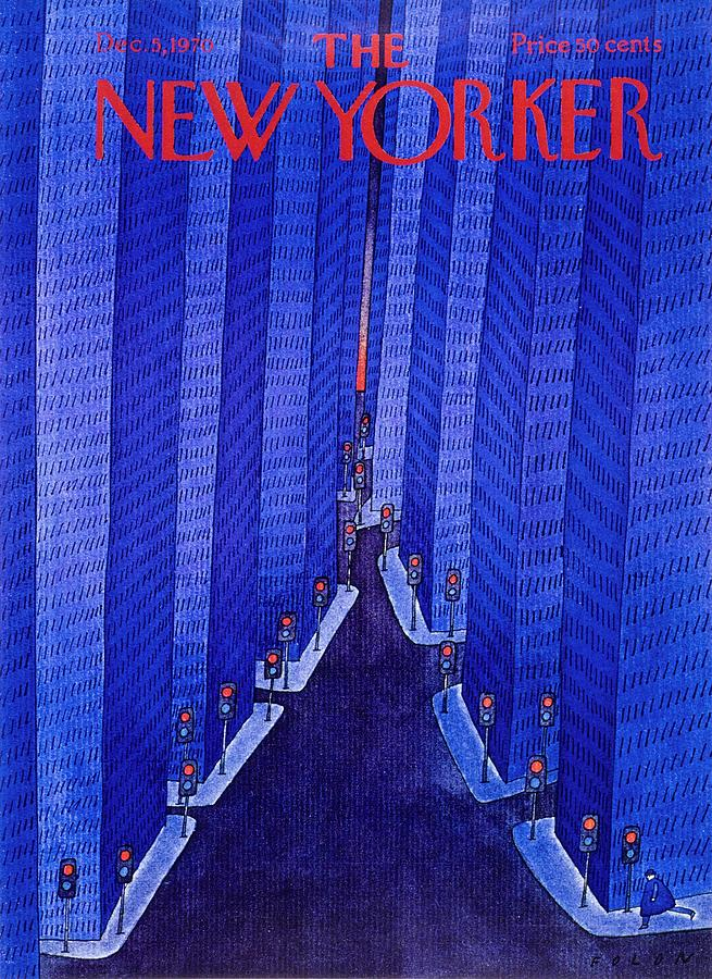 New Yorker December 5th 1970 Painting by Jean-Michel Folon