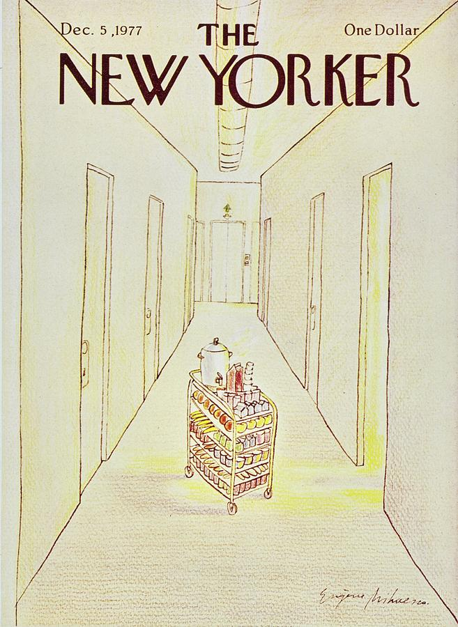 Illustration Painting - New Yorker December 5th 1977 by Eugene Mihaesco