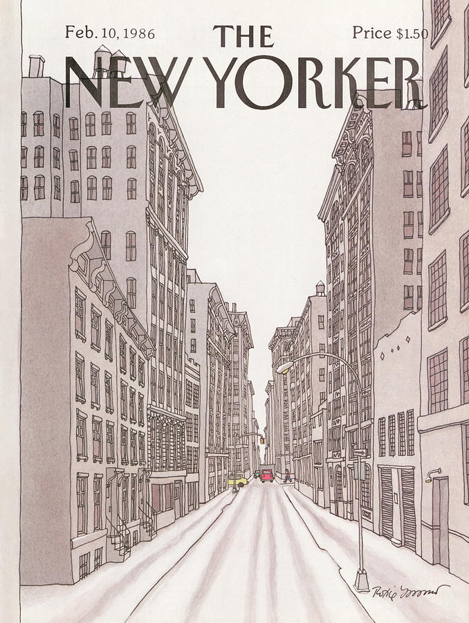 New Yorker February 10th, 1986 Painting by Roxie Munro