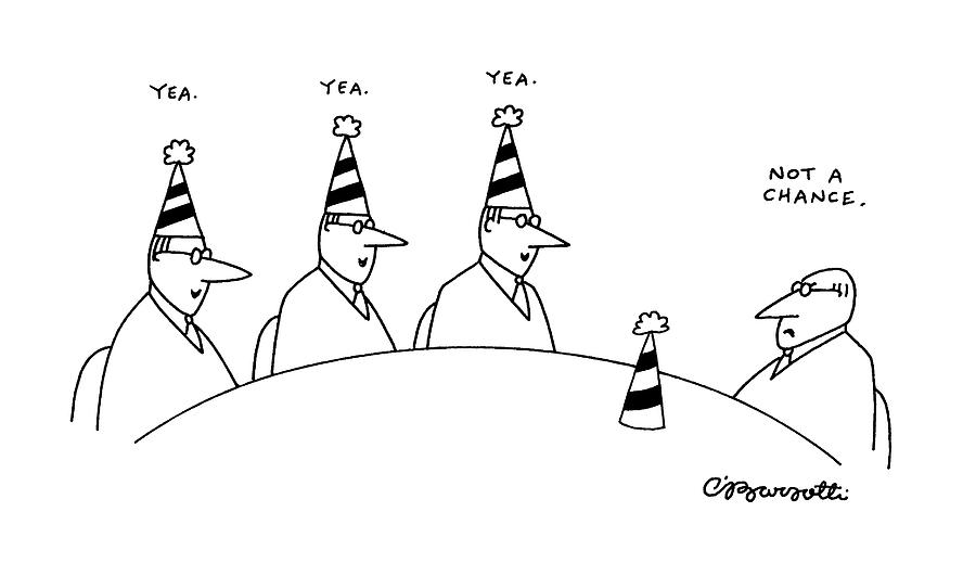 New Yorker February 10th, 1992 Drawing by Charles Barsotti