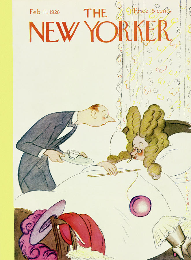 Illustration Painting - New Yorker February 11 1928 by Rea Irvin