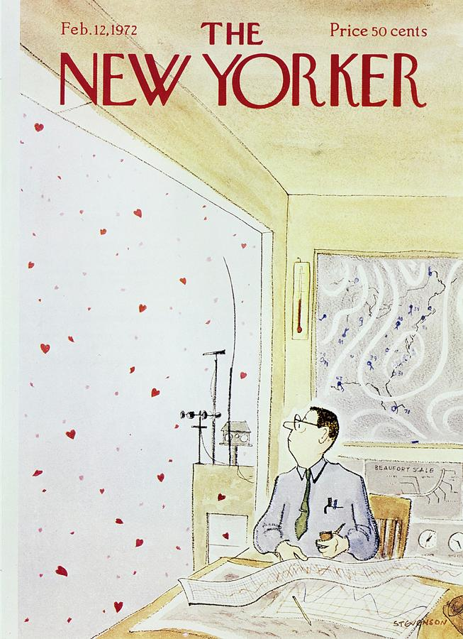 New Yorker February 12th 1972 Painting by James Stevenson