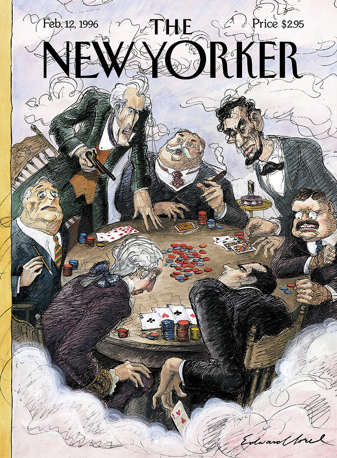 New Yorker February 12th, 1996 Painting by Edward Sorel