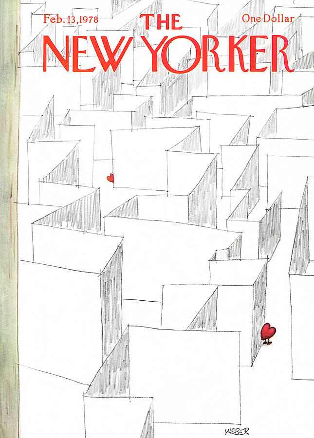 Holidays Painting - New Yorker February 13th, 1978 by Robert Weber