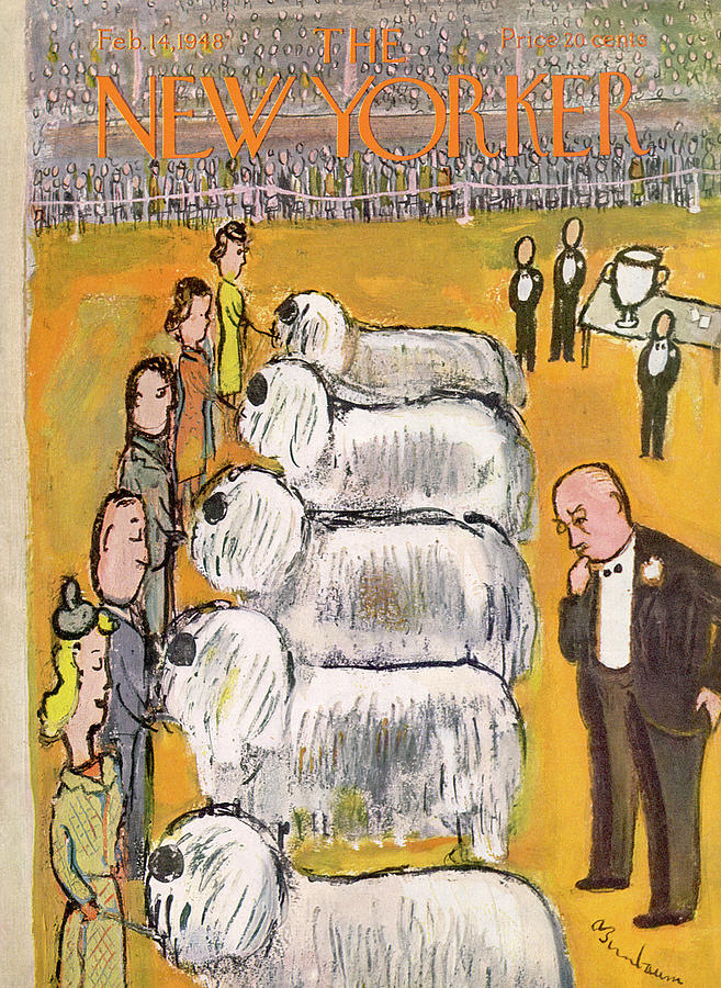 New Yorker February 14th, 1948 Painting by Abe Birnbaum