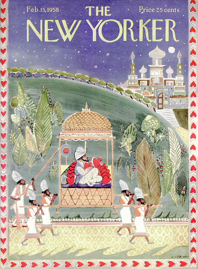 New Yorker February 15th, 1958 Painting by Anatol Kovarsky