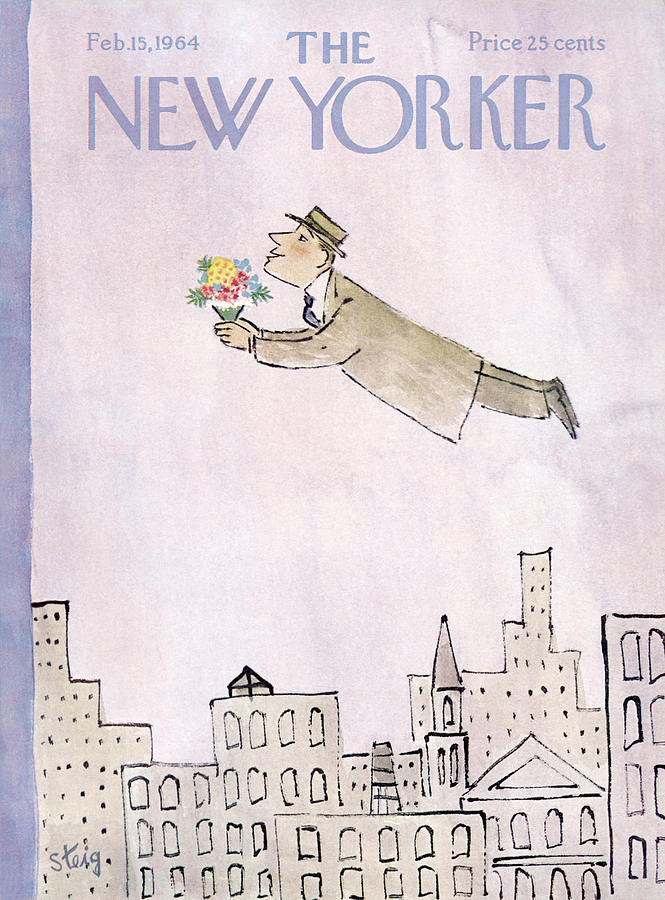 New Yorker February 15th, 1964 Painting by William Steig