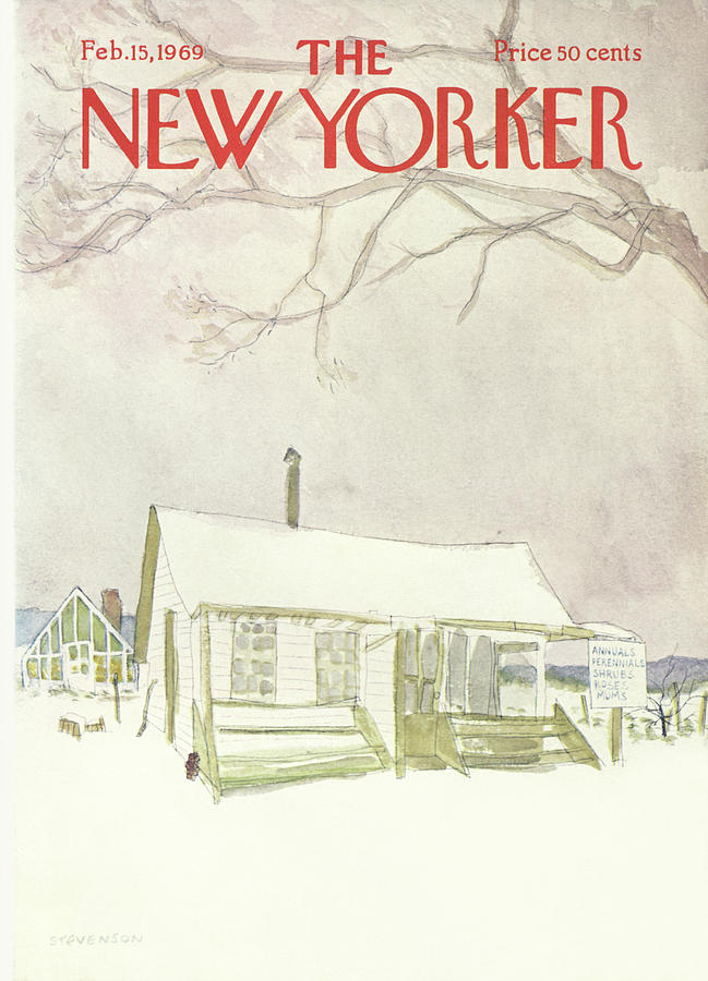 New Yorker February 15th, 1969 Painting by James Stevenson