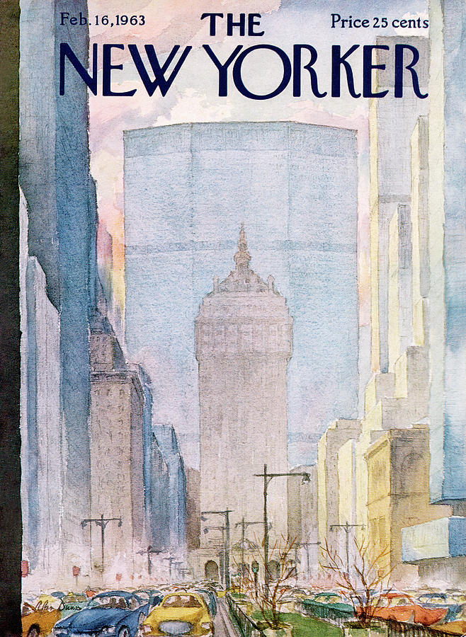 Traffic Painting - New Yorker February 16th, 1963 by Alan Dunn