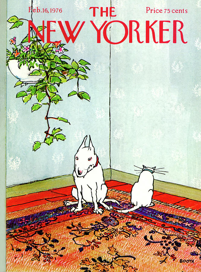 New Yorker February 16th, 1976 Painting by George Booth