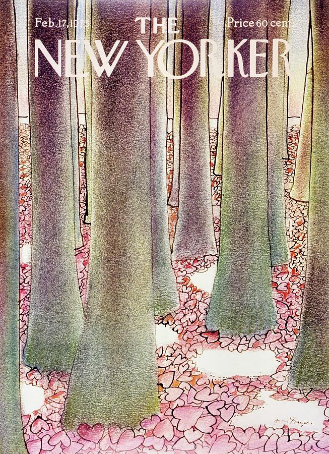 New Yorker February 17th 1975 Painting by Andre Francois
