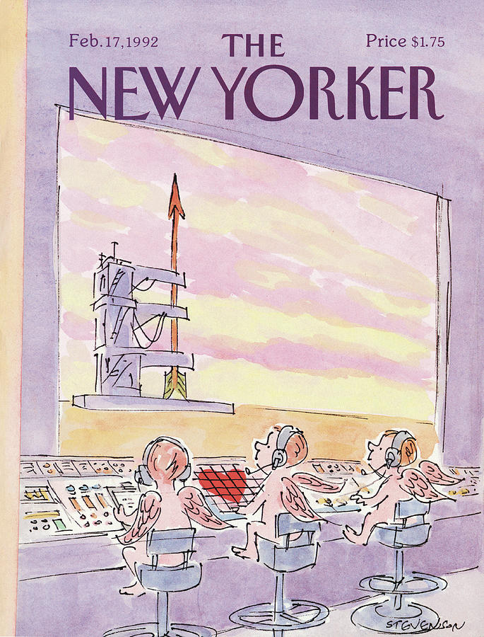 New Yorker February 17th, 1992 Painting by James Stevenson