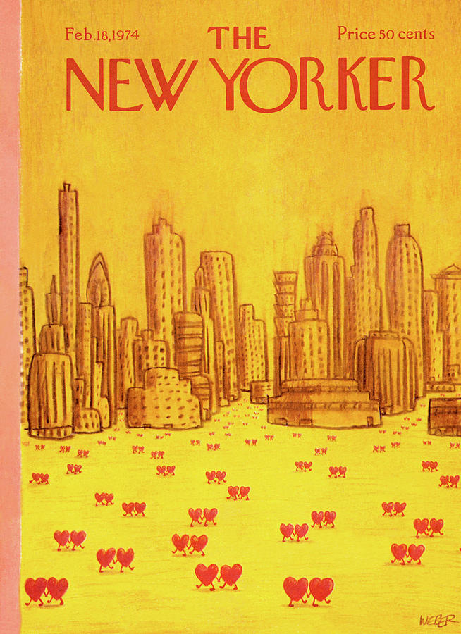 New Yorker February 18th, 1974 Painting by Robert Weber