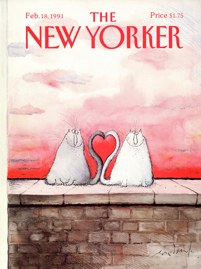 New Yorker February 18th, 1991 Painting by Ronald Searle